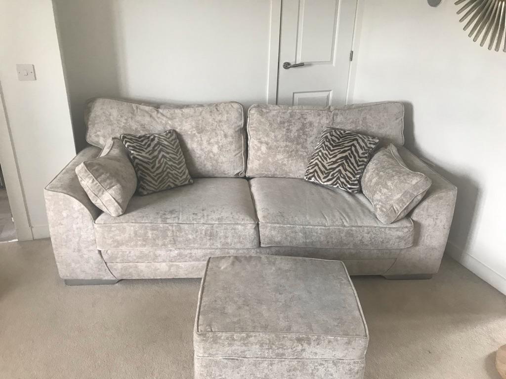 2 & 3 seater sofa & footstool