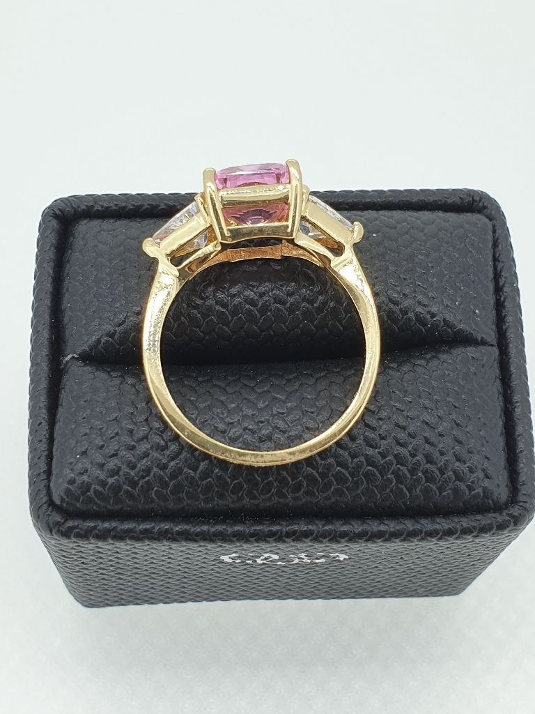 14ct Yellow Gold CZ dress ring