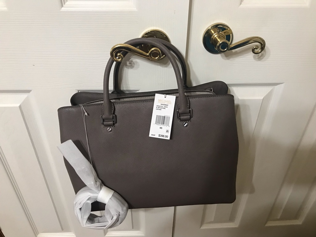Mk extra large 100% Saffiano leather satchel - color cinder
