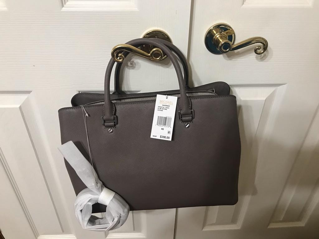 Mk extra large 100% Saffiano leather satchel - color cinder