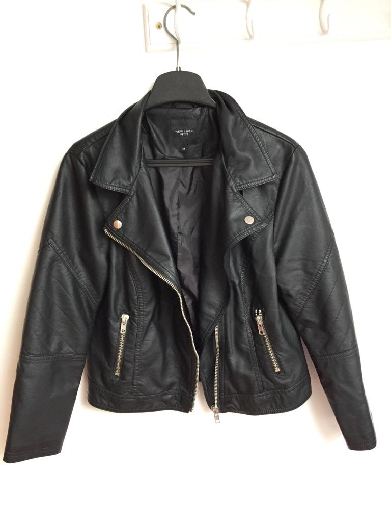 New Look Petite leather jacket