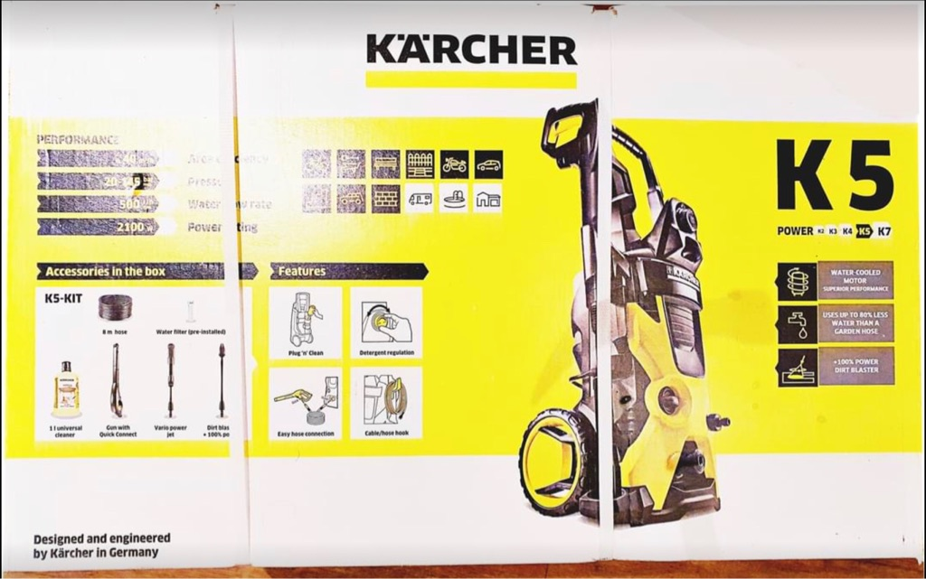 Karcher Pressure washer patio car cleaner K5 new boxed