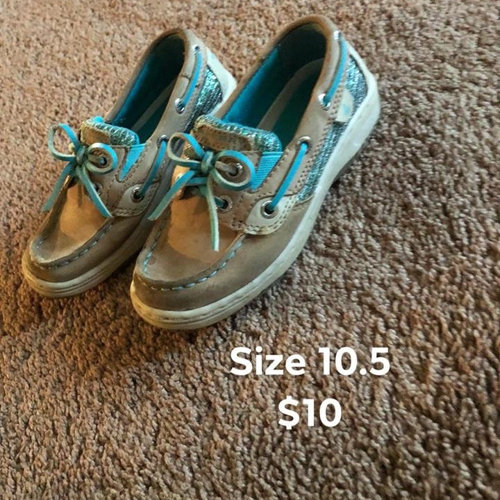 Girls Sperry's size 10.5