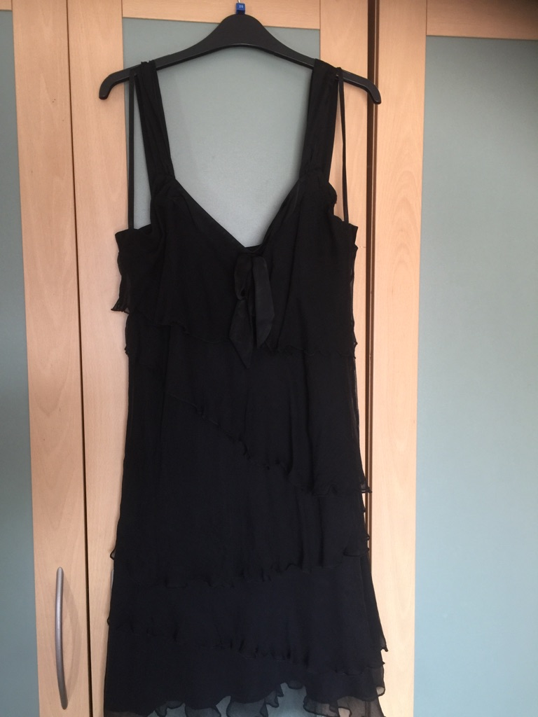 Size 16r black layered dress from Per Una