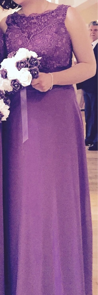Beautiful amethyst purple bridesmaid/formal dress. Size 14. £90.