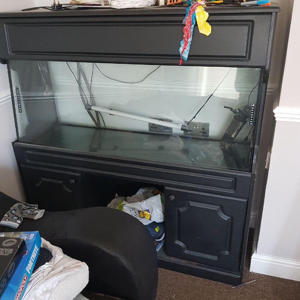 Huge fish tank with cabinet