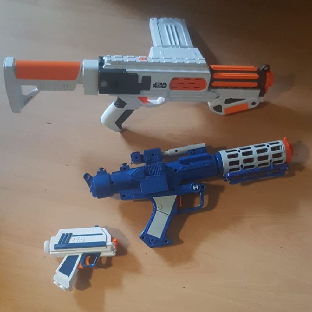 Star wars nerf and Hasbro guns