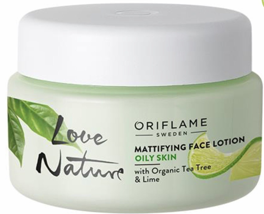 Mattifying Face Lotion with Organic Tea Tree & Lime