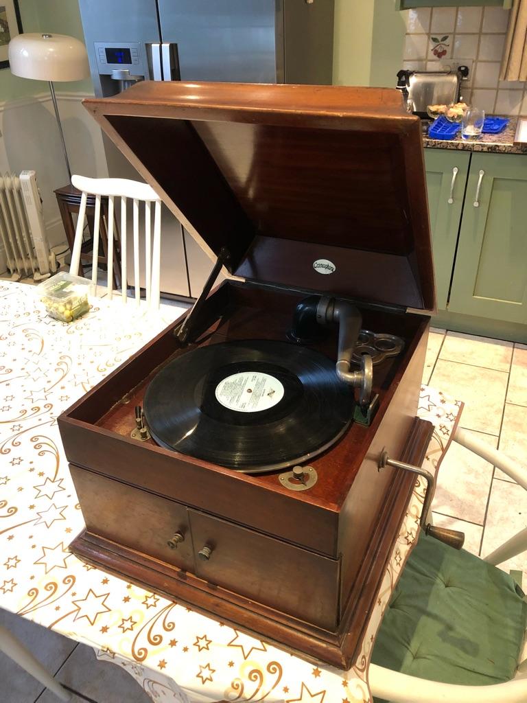 Mahogany gramophone