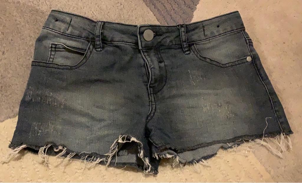 Black denim shorts 9 years