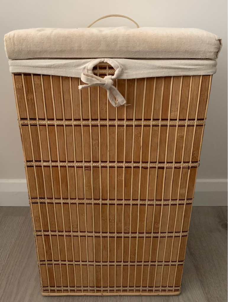 Bamboo laundry bin