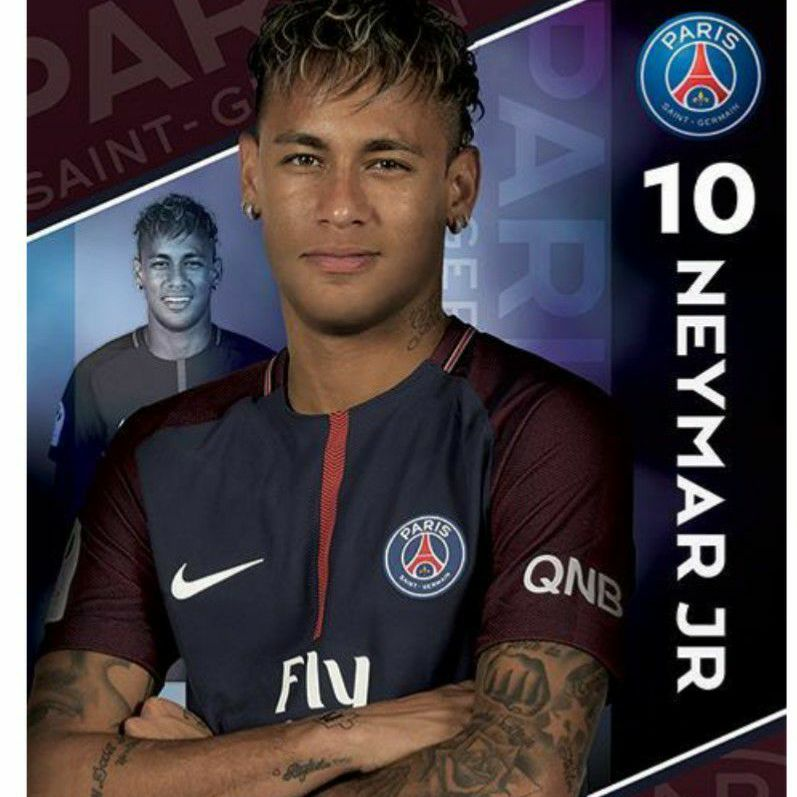 Pairs Saint Germain neymar Jr poster