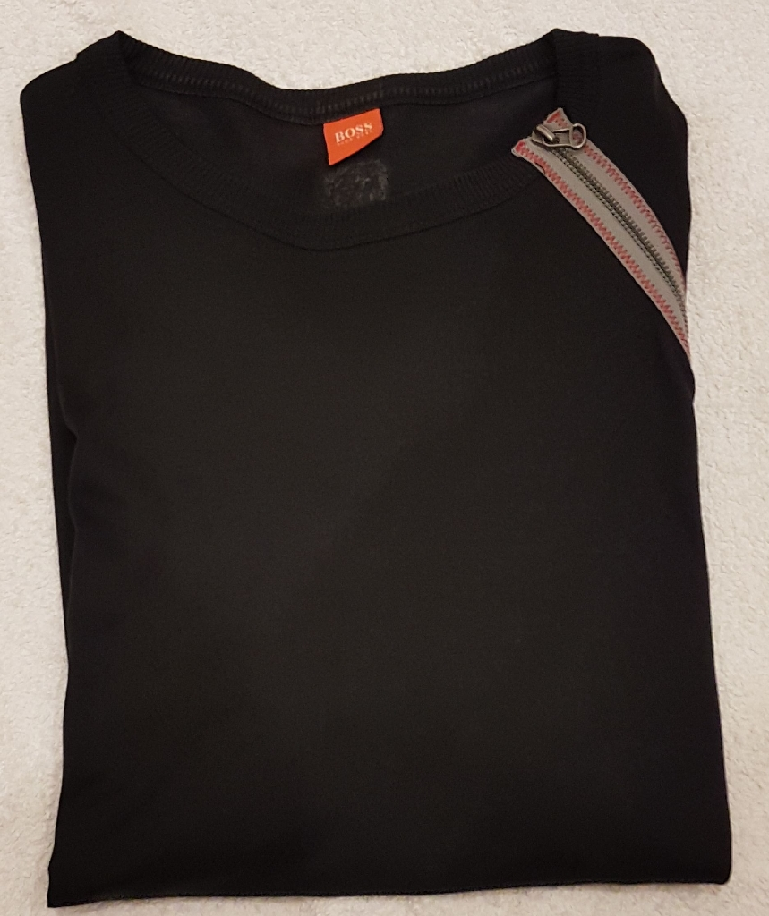 Hugo Boss mens black top size XL