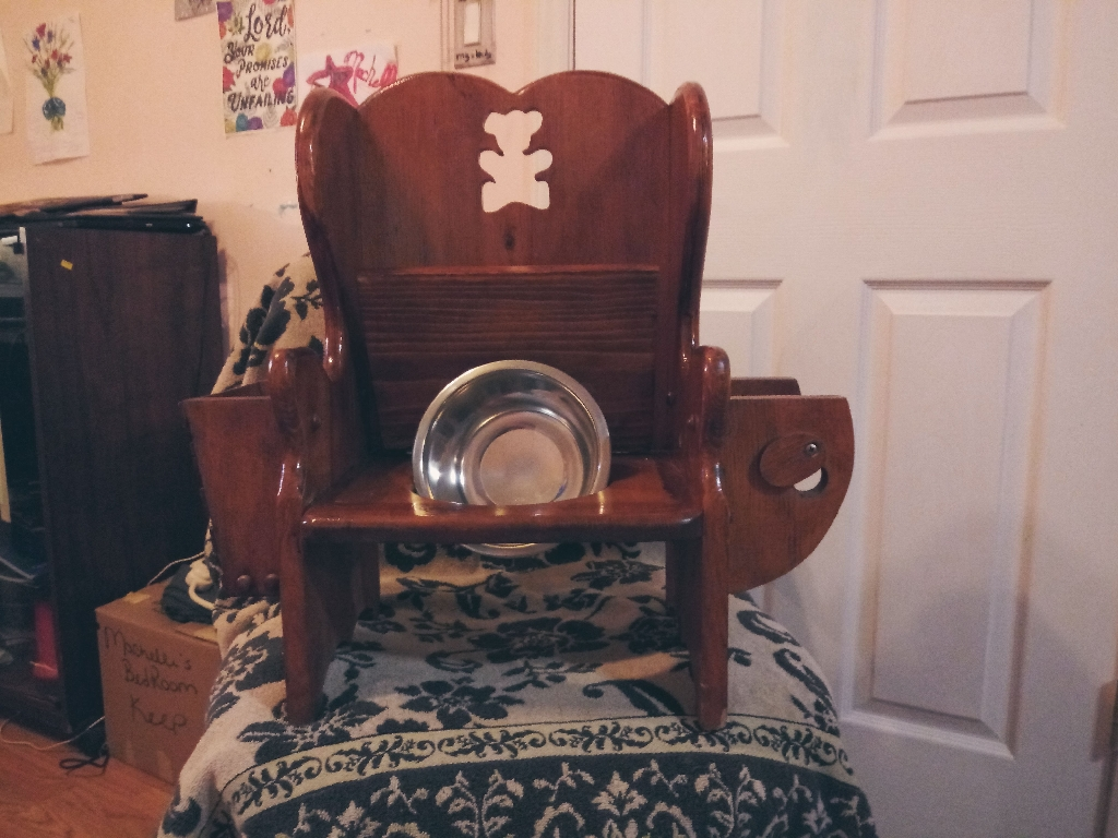 Vintage childs potty chair