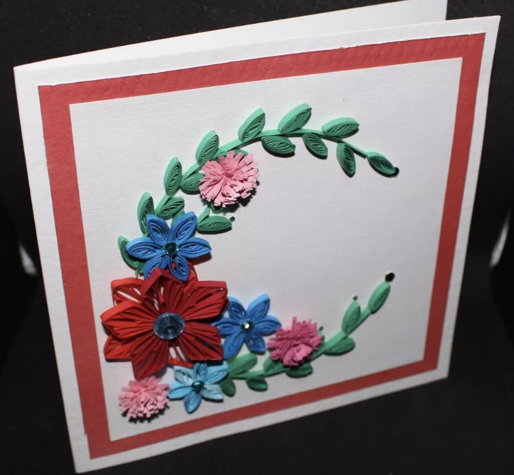 HANDMADE QUILLING GREETING CARD FOR ANY OCCASION