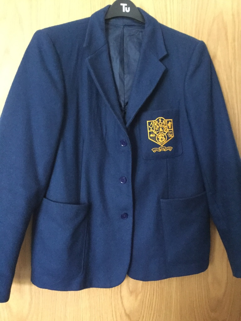 BELFAST HIGH SCHOOL - Blazer , Scarf & P E Skirt/ Shorts