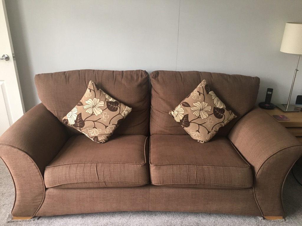 2 Brown sofas