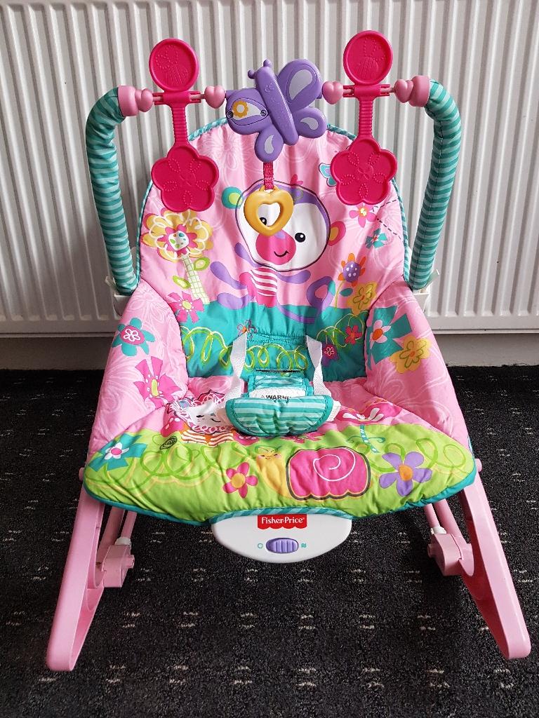 Rainforest Infant Toddler Rocker (Pink)