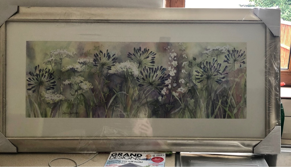 JOHN LEWIS AGAPANTHUS AND WILD GRASSES FRAMED PRINT