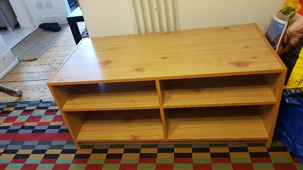 TV stand with storage underneath