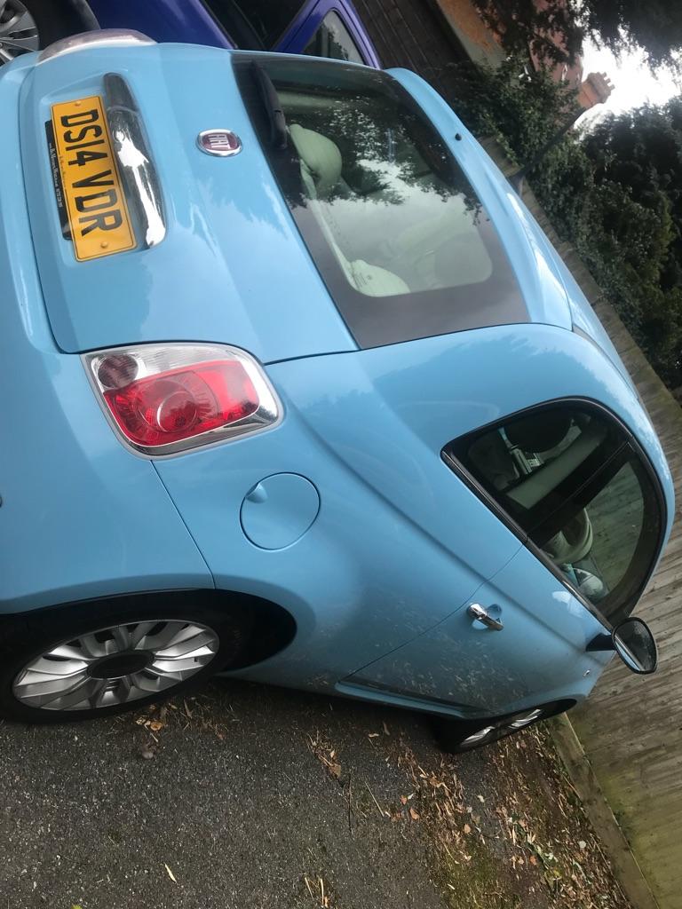 Fiat 500 baby blue