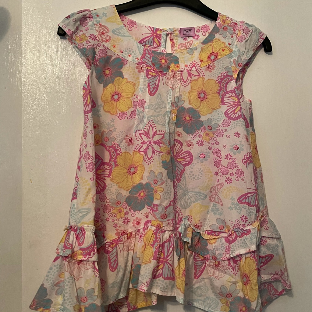 Girls Floral Summer top age 9-10