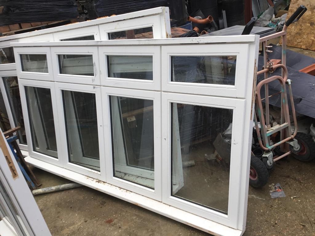 3 timber double glazed windows- sizes on window