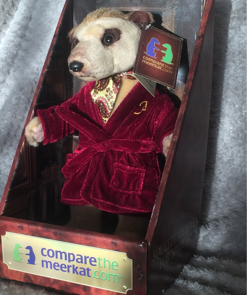Limited edition Harrods meerkat toy