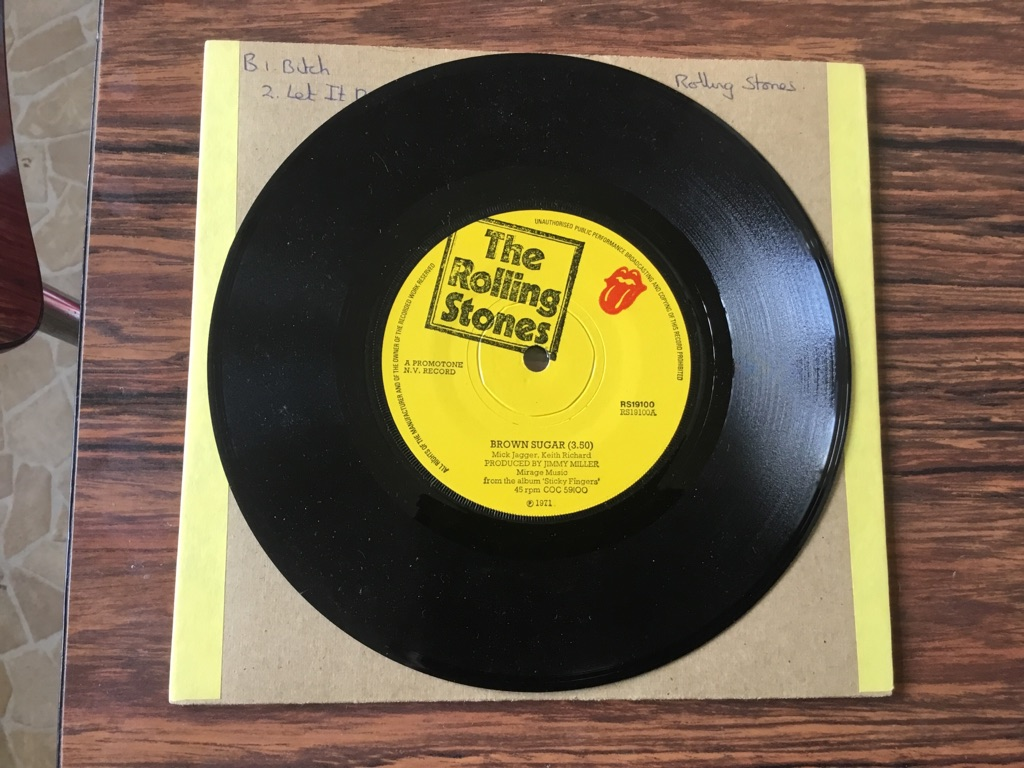 RS19100 the Rolling Stones brown sugar/bitch/let it rock 45 single GC