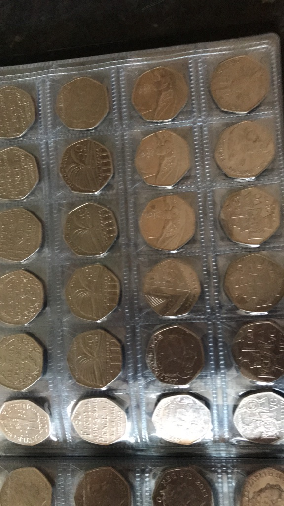 Rare 50 pence collection