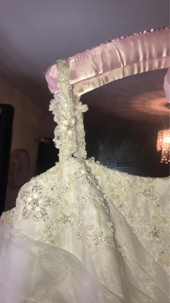 Beautiful off white wedding dress