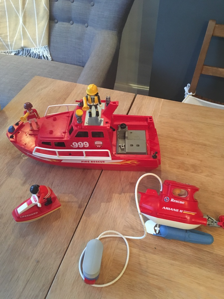 Playmobile rescue boat and submersible set