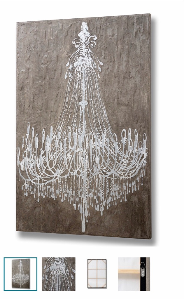BRAND NEW SEALED CHANDELIER WALL ART RRP £216