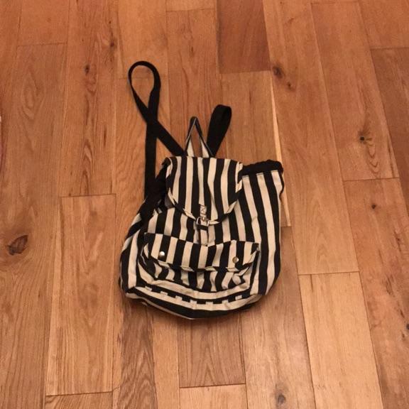 Black and white striped bag