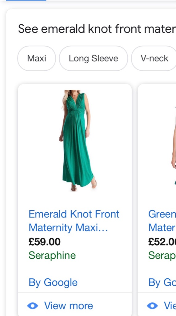 Seraphine Emerald maxi dress