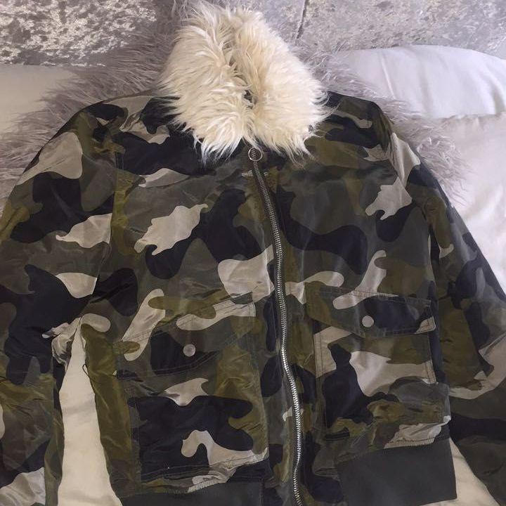 Women's Army Camo Coat Size 10