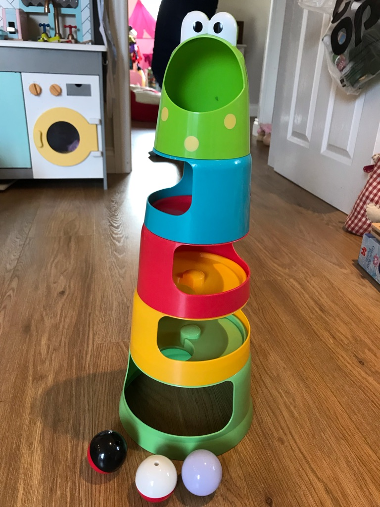 ELC stacker and drop froggie tower