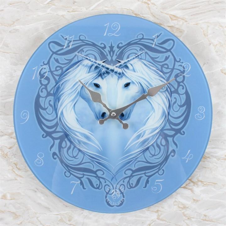 Anne Stokes Unicorn Glass Clock