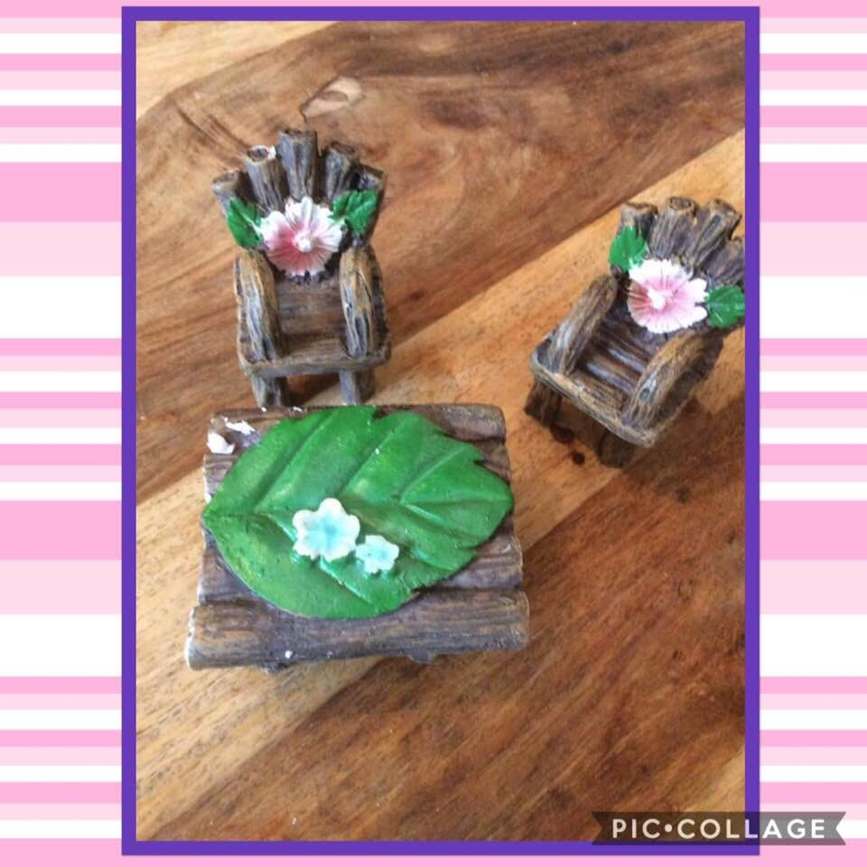 Fairy chairs and Bench