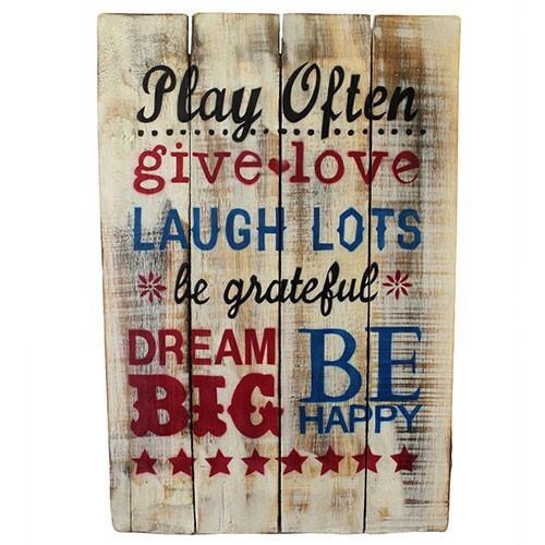 Rough Wooden Sign 'Play Often'