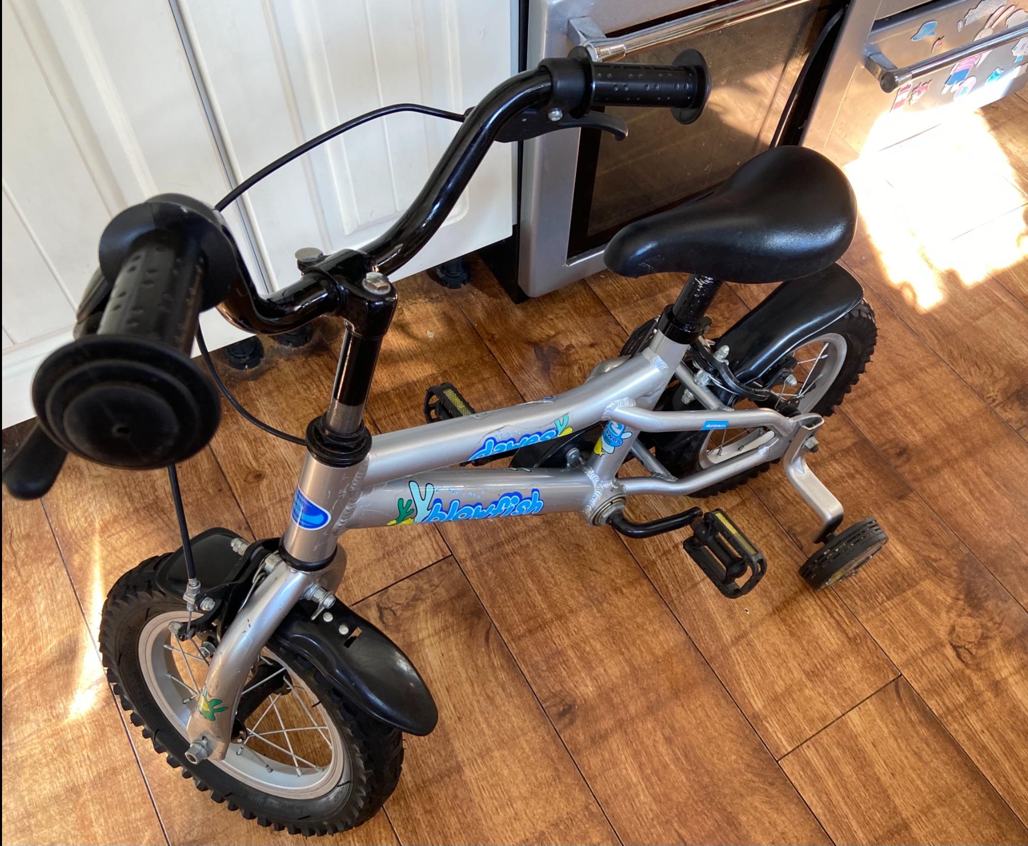 Dawes blowfish 12 inch wheel bike with stabilisers