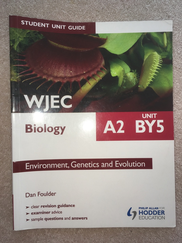 WJEC Biology A2 BY5