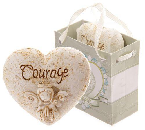 Courage angel whisper heart in gift bag