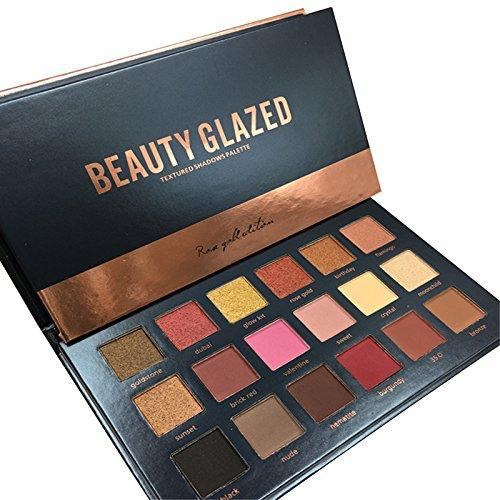 Beauty glazed rose gold edition matte/shimmer textured eyeshadow palette