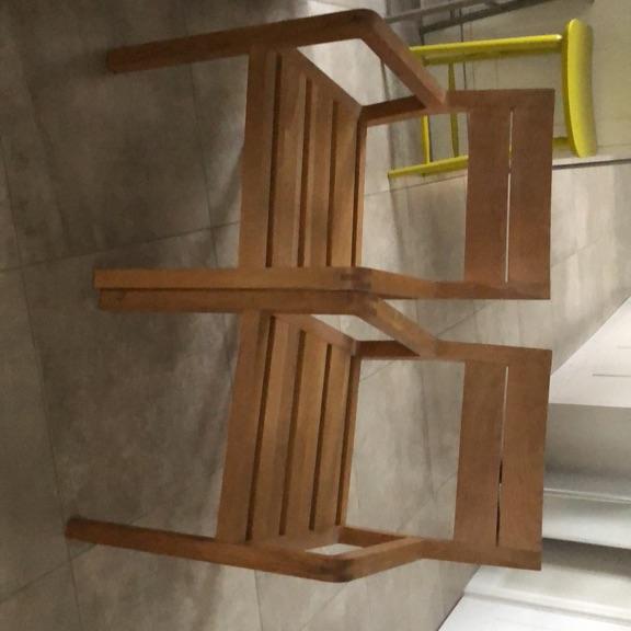 Habitat radius oak dining chairs x 2
