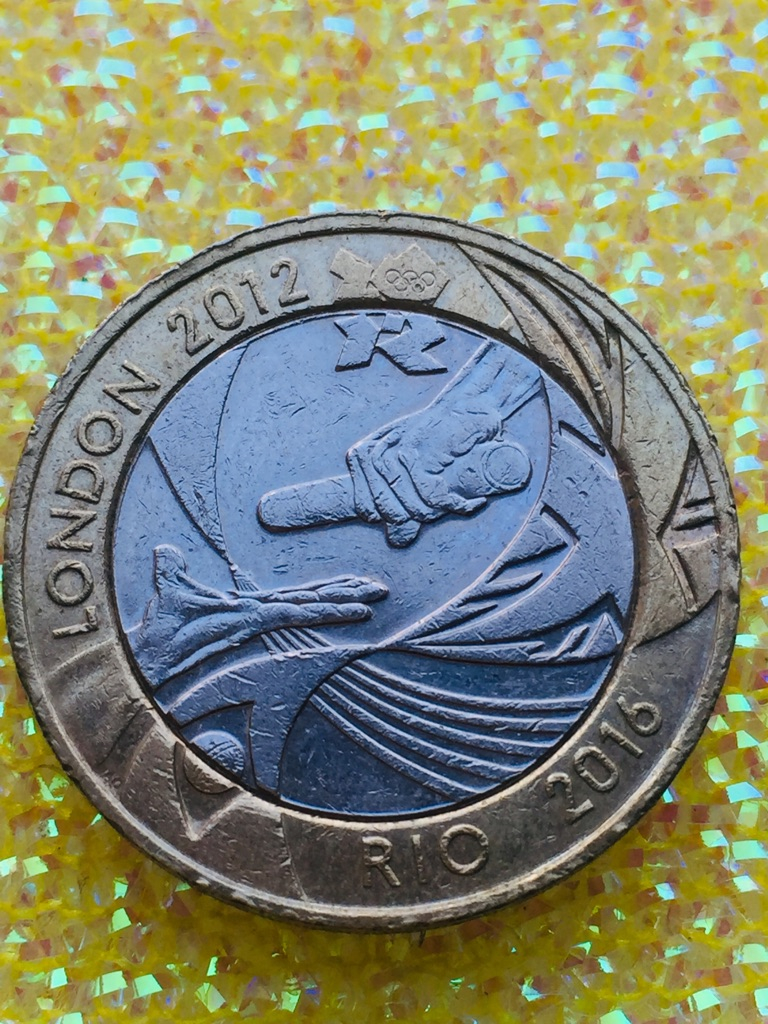 2 pound coin Olympic Games handover London to Rio