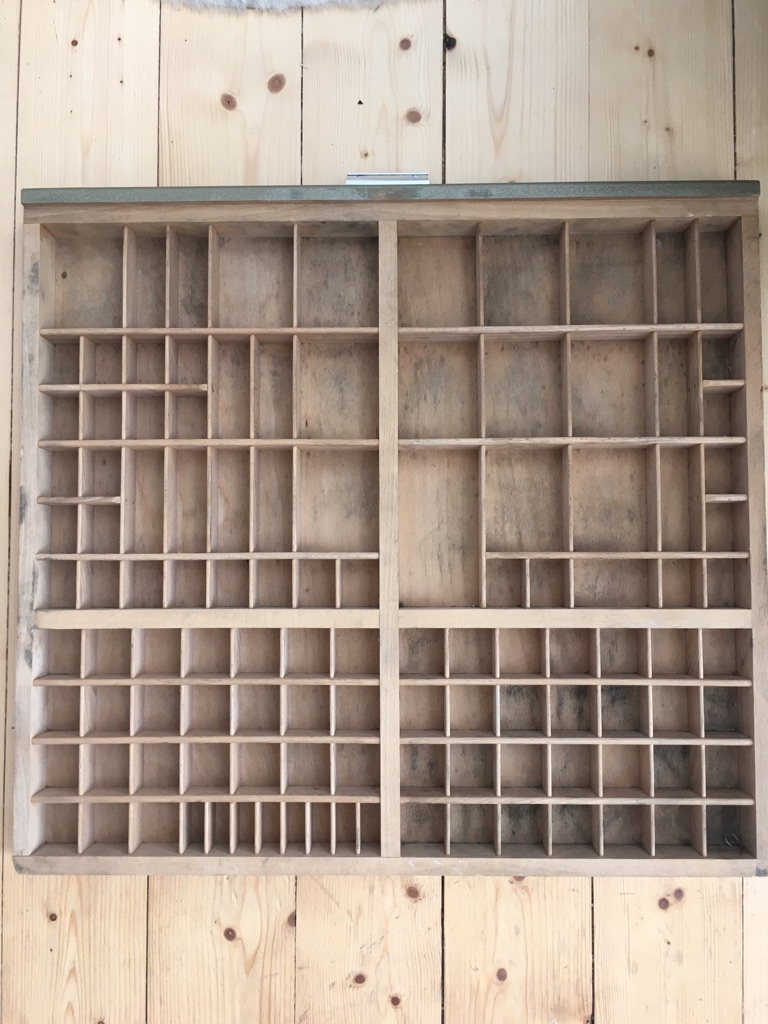 Vintage Letterpress drawer tray