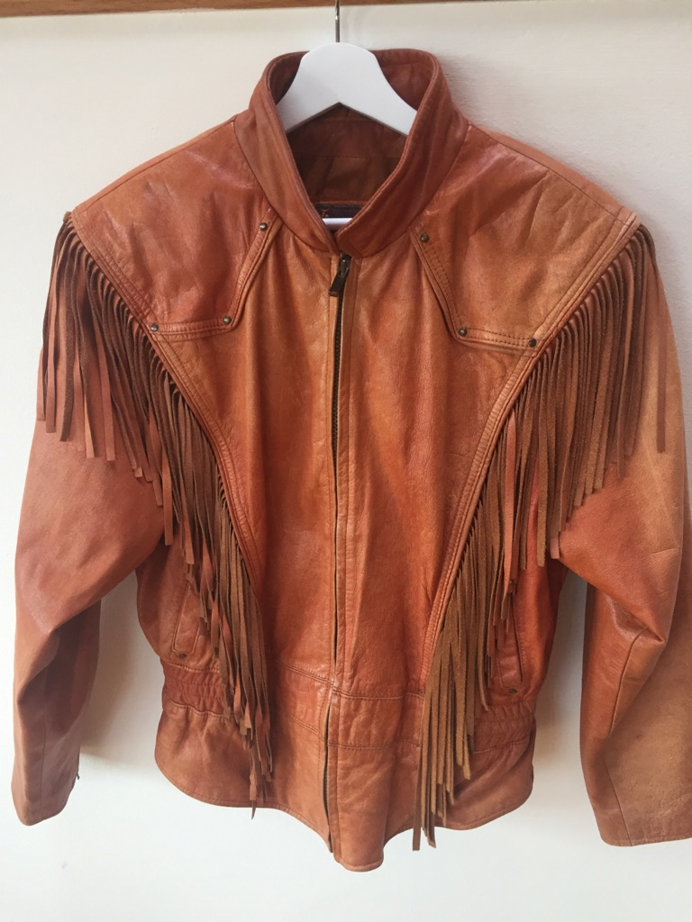 Vintage leather jacket, size M