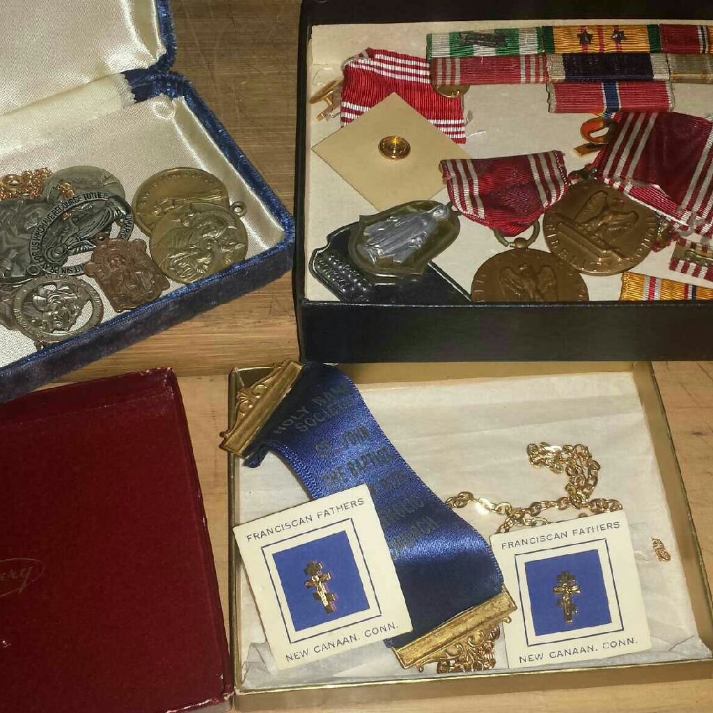 Vintage medals and blessed medals
