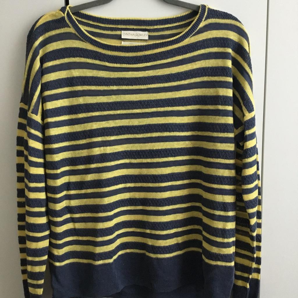 Linen Striped Top/Jumper
